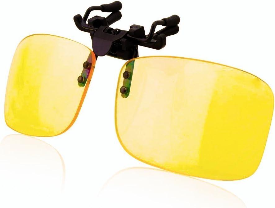 Gafas de Clip para Bloquear la Luz Azul - Alta Protección Frente a la Pantalla - Gafas Gaming para PC, Móvil, TV - Anti Fatiga, Anti Luz Azul - Filtran la Luz Azul