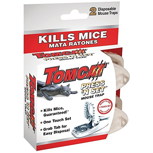 Tomcat Press 'N Set Mouse Trap, 2-Pack(2Pack 4 Traps total) (Mouse Traps Ortho)