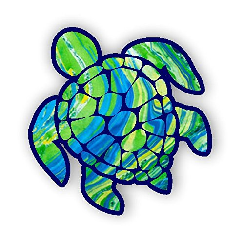 Sea Turtle Decal sticker green