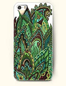 OOFIT Apple iPhone 4 4S Case Paisley Pattern ( Flourishing Green Buteh Tree )