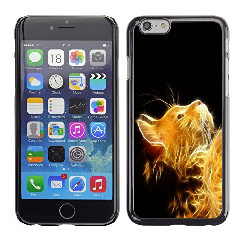 GooooStore/Housse Etui Cas Coque - Cat Fire Ginger Yellow Furry Magic Mythical - Apple Iphone 6 Plus 5.5
