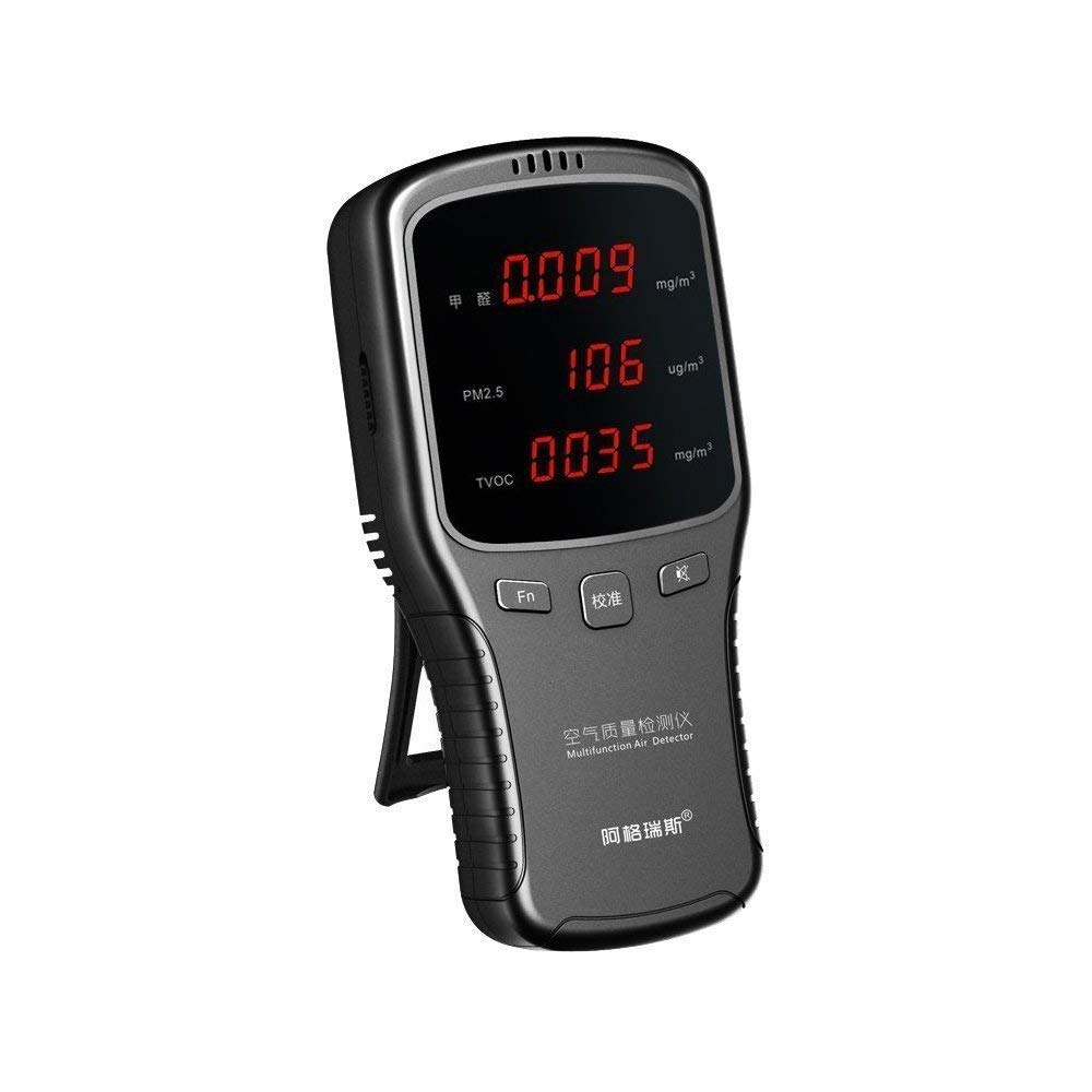 Air Quality Detector Indoor for Accurate Testing Formaldehyde(HCHO) Monitor, Air Quality Tester with LCD Display and Alarm for Car Outdoor Detection by Moonee.