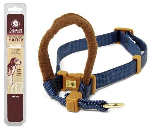 Petmate 3/4-Inch by 16-24-Inch Medium AKC Padded Dog Halter, Blue