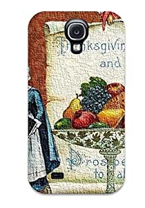 Fashion Tpu Case For Galaxy S4- Artistic Thanksgiving Defender Case Cover