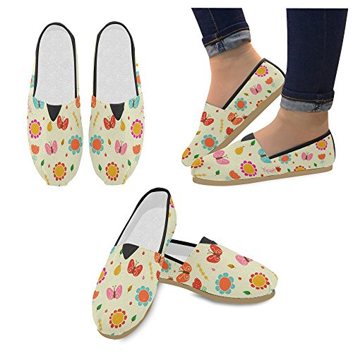 M-story Fashion Sneakers Flat Cartoon Blue Dogs Womens Classic Slip-on Scarpe Di Tela Mocassini Multi7