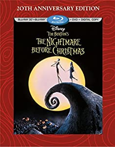 Cover Image for 'Tim Burton's The Nightmare Before Christmas - 20th Anniversary Edition (Blu-ray 3D/Blu-ray/DVD + Digital Copy)'