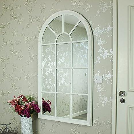 Blanco Arco ventana espejo: Amazon.es: Hogar