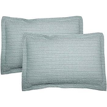 Waffle Weave Blue Pillow Shams-Set of 4