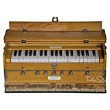Harmonium, Maharaja Musicals, 3 1/4 Octave, Double Reed, Coupler, Natural Color, 7 Stops, Tuned to A440,Standard, Book, Padded Bag (PDI-ABF)