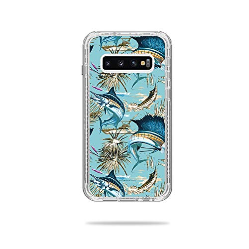 Price comparison product image MightySkins Skin Compatible with Lifeproof Next Case Samsung Galaxy S10+ - Island Fish / Protective,  Durable,  and Unique Vinyl Decal wrap Cover / Easy to Apply,  Remove / Made in The USA