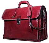 Floto Firenze Briefcase in Tuscan Red