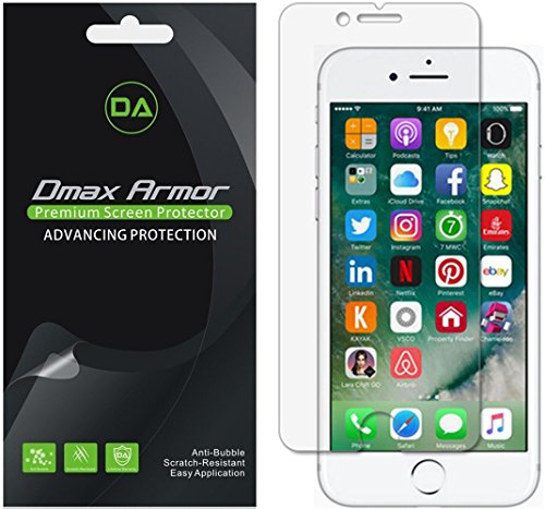 - Dmax Armor [6-Pack] for Apple iPhone 8 Plus/iPhone 7 Plus Anti-Glare & Anti-Fingerprint (Matte) Screen Protector - Lifetime Replacement