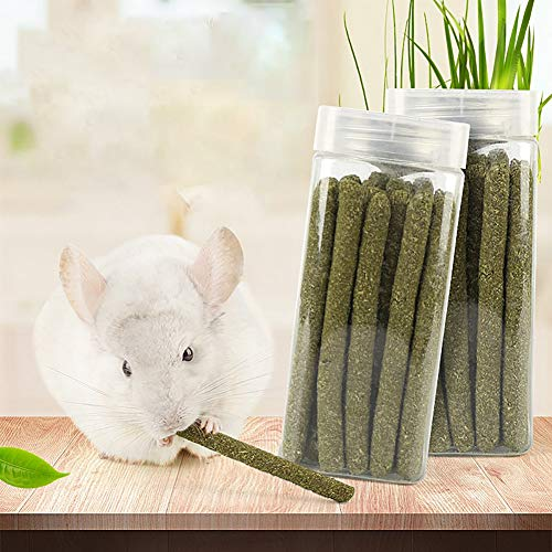 Animals Pet Snacks Toys with Grass Cake Natural Pet Chewing Playing Toys for Rabbits Guinea Pigs Chinchillas Hamsters ECOLOG Timothy Grass Hay Sticks