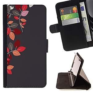 For Sony Xperia Z5 Compact Z5 Mini (Not for Normal Z5) Case , Rojo Granate Gris Gris otoño- la tarjeta de Crédito Slots PU Funda de cuero Monedero caso cubierta de piel