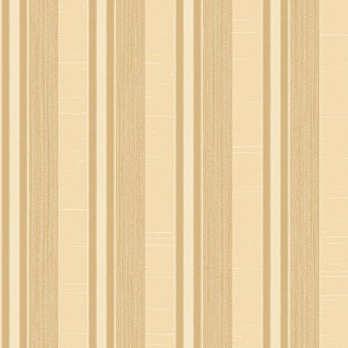 Galerie Wallcoverings Palazzo G67625 Cream and Gold Multi-Stripe Wallpaper