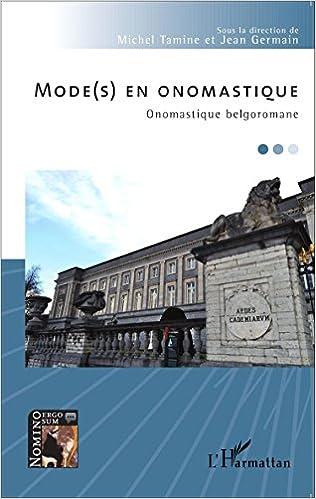 Livre gratuits Mode(s) en onomastique pdf, epub