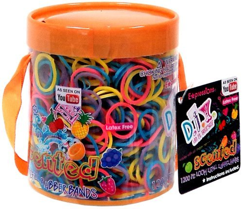 Expressions D.I.Y. 1200 Rainbow SCENTED Latex-free Rubber Band Bracelet Refill Loom Pack