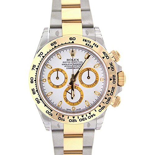 Rolex Cosmograph Daytona 40 White Dial Stainless Steel And Gold Men's Watch 116503