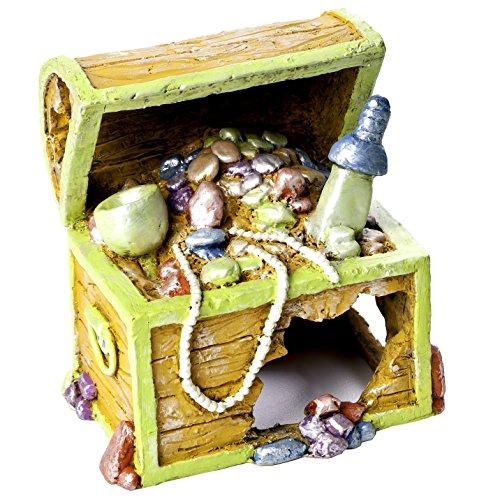 - GloFish Treasure Chest Ornament for Aquarium, Large