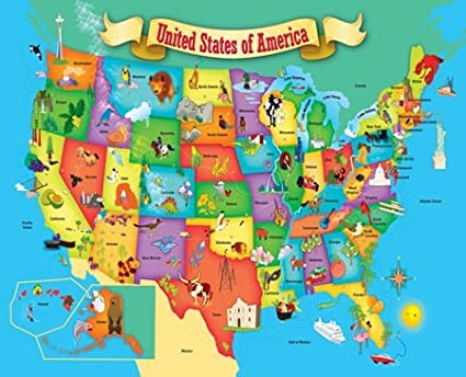 Buy MasterPieces USA Map Puzzle (60pc) Online at Low Prices in India ...