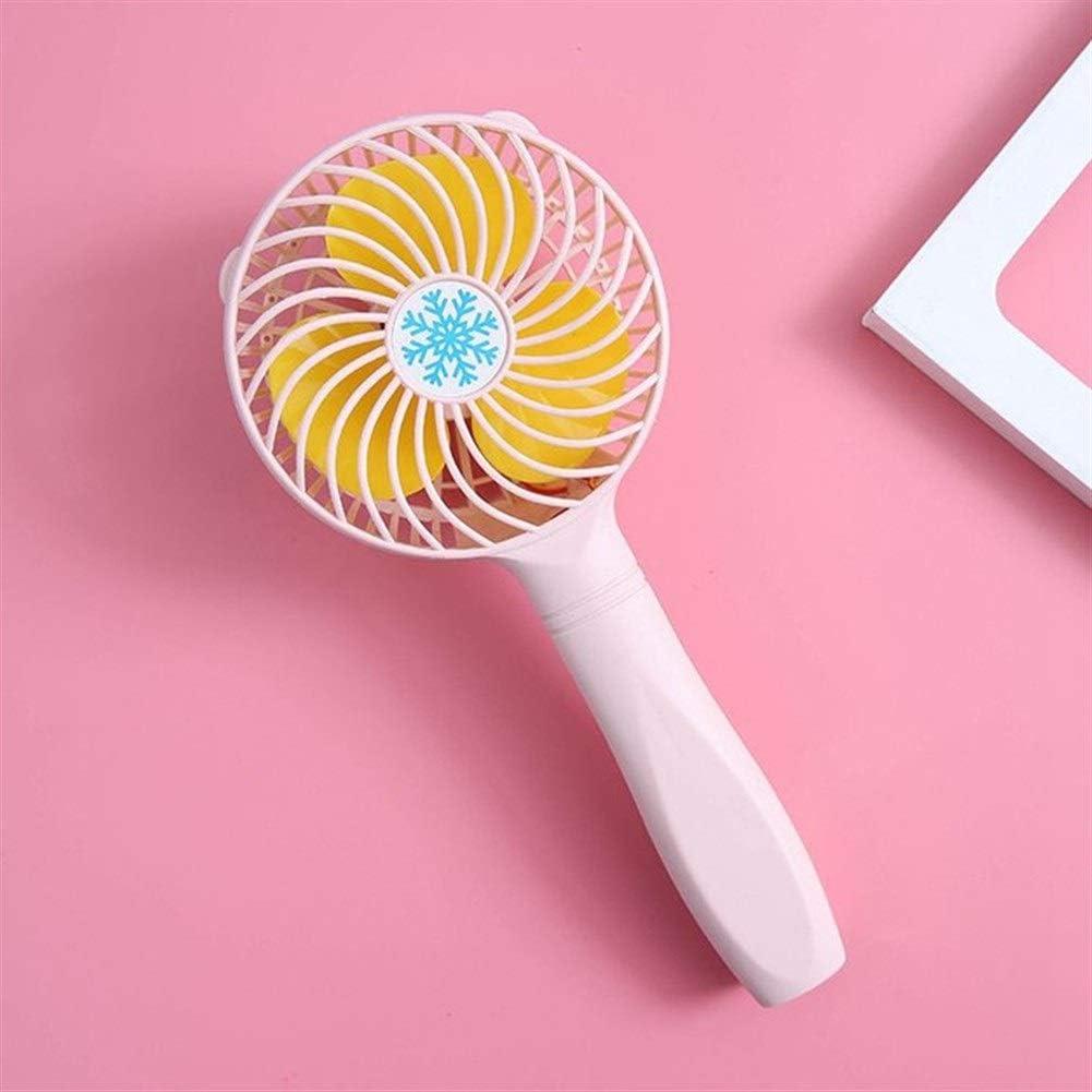Air Cooler USB Fan Handheld Portable Mini Fan Desktop Mute Personal Fans Dormitory Office Color : Pink