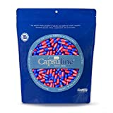 Colored Size 00 Empty Gelatin Capsules by Capsuline – Blue/Red 1000 Count