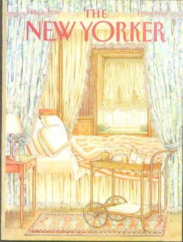 Quilted Frog (New Yorker cover Oliver teacart quilted bed 2/3 1986)