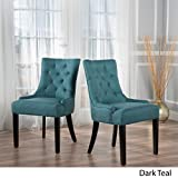 Christopher Knight Home 299537 Hayden Fabric Dining Chairs (Set of 2), Dark Teal Review