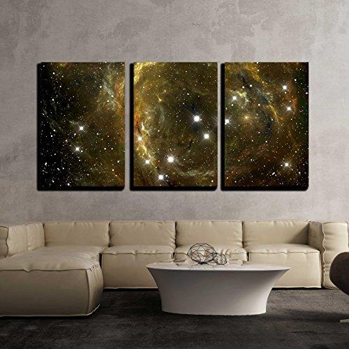 Colorful Space Star Nebula x3 Panels