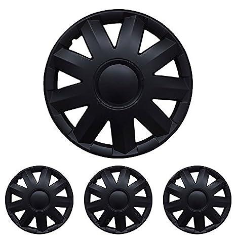 Diseño alfombrillas de Deluxe 899988895 Tapacubos – Tapacubos Tapacubos 5 unidades en Set sukrut Negro