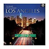 2018 Los Angeles Calendar - 12 x 12 Wall Calendar - With 210 Calendar Stickers