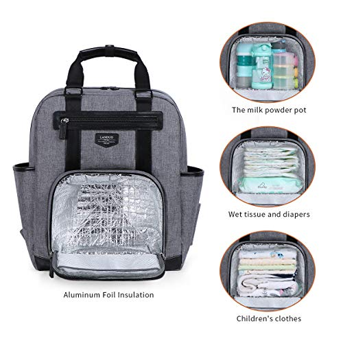 Landuo Diaper Bag Backpack Multi-Function Waterproof Large Travel Backpack Nappy Bags for Mom Dad Newborn Diapers Registry Baby Shower