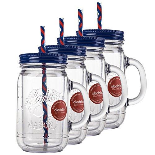 plastic mason jars drinking - 3