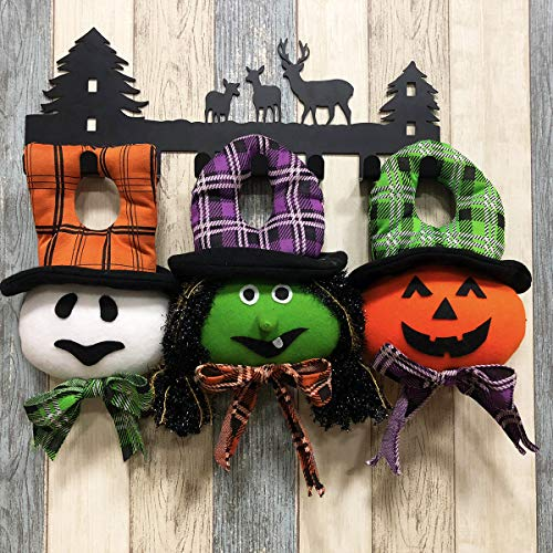 Aitey Halloween Decor Dolls, Halloween Party Supplies Favors Pumpkin, Witch, Ghost Hanging Doll for Home Yard Patio Lawn Garden Ornaments 3 Pack ()