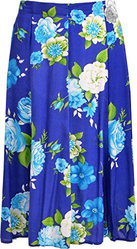 KK Fashion Lines - Falda - para mujer Royal Floral