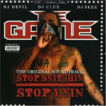 The game stop snitchin stop lyin' dvd cover art, release date.