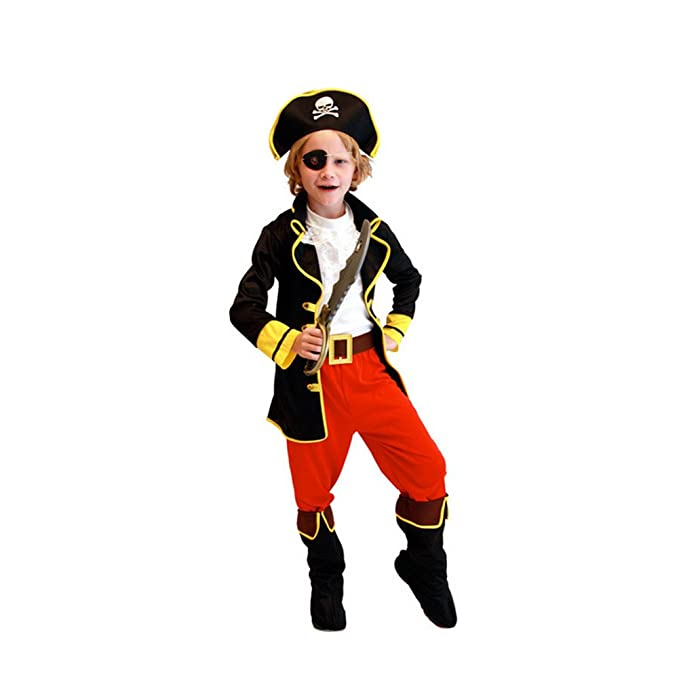 Labellevie Disfraz de Pirata para niño Traje de Halloween ...