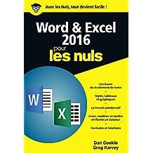 Word et Excel 2016 pour les nuls