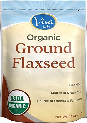 Viva Labs - le lin mieux biologique des semences, 15 oz - technologie froid-fraisé
