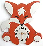 Nursery Wall Clock, Nursery Fox Clock, Hanging