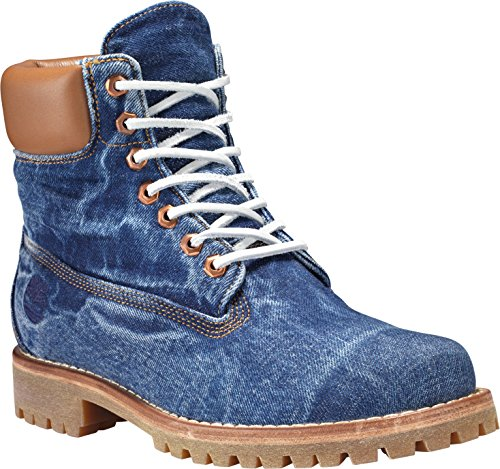 Timberland Heritage 6 in Fabric FADED DENIM, MAN, Size: 41 EU (7.5 US / 7 UK)