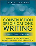 img - for Construction Specifications Writing: Principles and Procedures book / textbook / text book