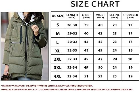 ladies's Down Jacket light-weight Mid Length Winter Zip Front Waterproof Down Jackets Hooded Warm Coats U1320MFML-NEW-Army Green-XXXXL