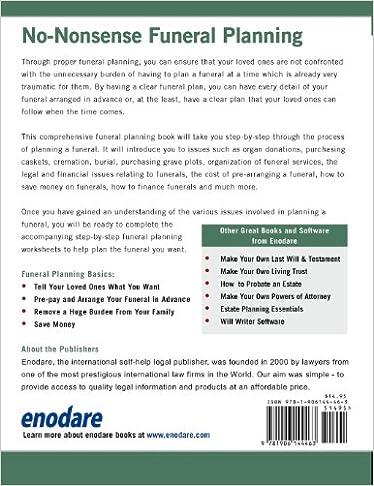 Funeral Planning Basics: Enodare: 9781906144463: Amazon.com: Books