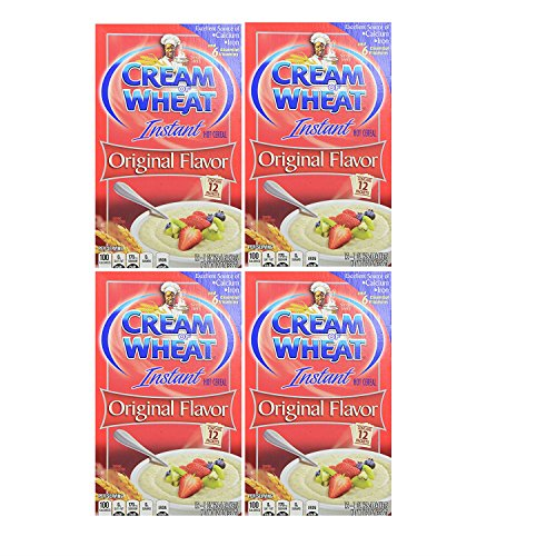 Cream of Wheat Original Flavor Instant Hot Wheat Cereal. Pack of 4. Convenient One-Stop ()