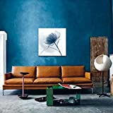 Wieco Art Blue Flickering Flower Modern Abstract