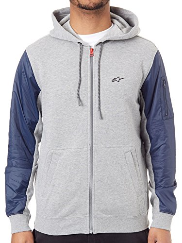 Alpinestars Edge - Alpinestars Alpine Stars Edge Zip Hoody Medium Grey Heather