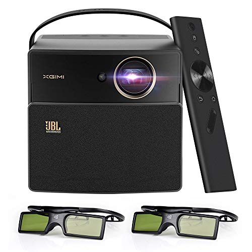 XGIMI CC Aurora Dark Knight 3D LED DLP Home Projector, Built in 20000 mAh Battery and JBL Speaker, Support 1080P 4K, Bonus Exquisite Carry Bag+DLP Link Active 3D Glasses ()