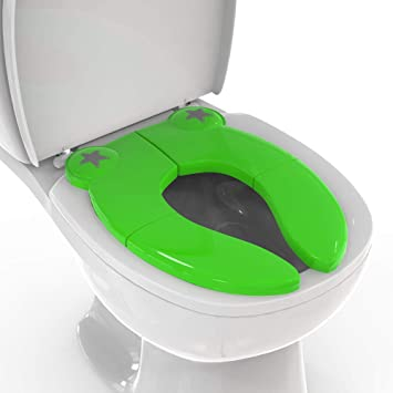 Amazon Com Mighty Clean Baby Folding Travel Potty Seat Non Slip Portable Toilet Training Seat For Toddlers And Kids With A Reusable Travel Pouch Home Improvement