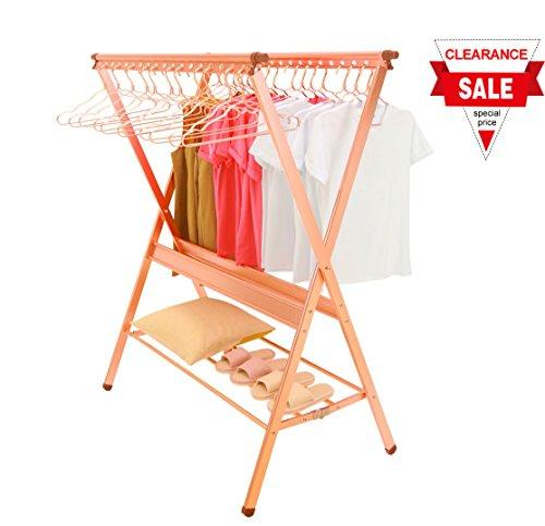 Decks Clothes (GENE Aluminum Clothes Laundry Drying Rack Heavy Duty Foldable Space Saving Garment Rack)